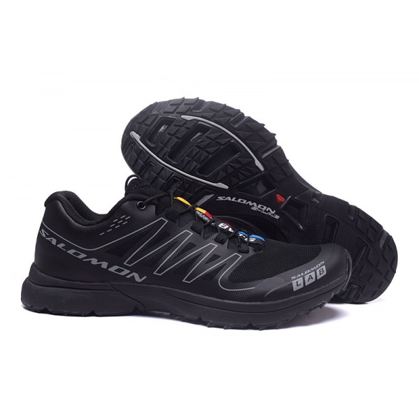 Salomon S LAB Sense Speed Trail Running In Black Gray Shoes