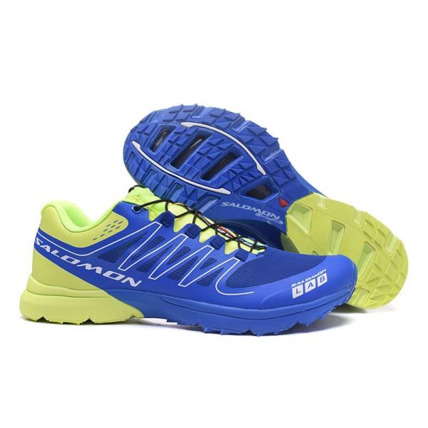 Salomon S LAB Sense Speed Trail Running In Blue Green Shoes