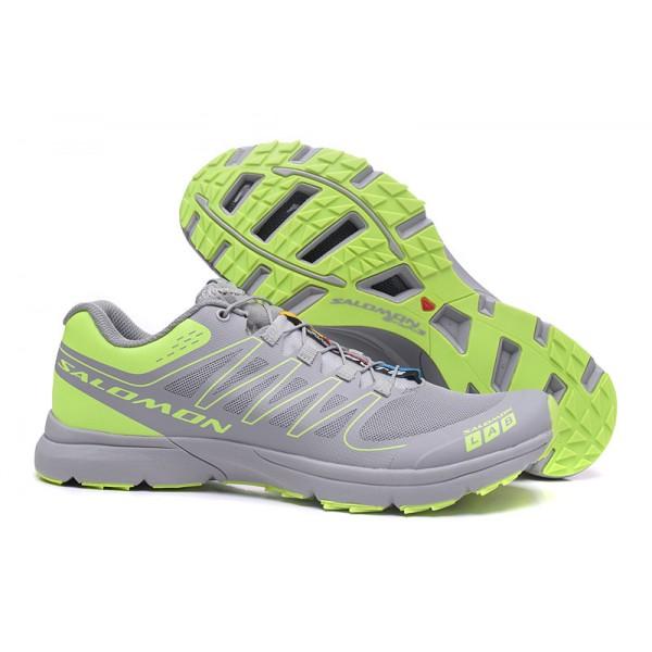 Salomon S LAB Sense Speed Trail Running In Gray Green Shoes