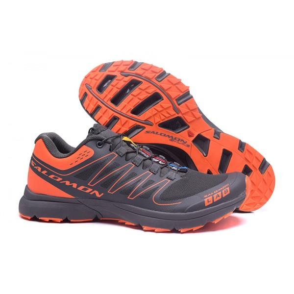 Salomon S LAB Sense Speed Trail Running In Gray Orange Shoes Sale