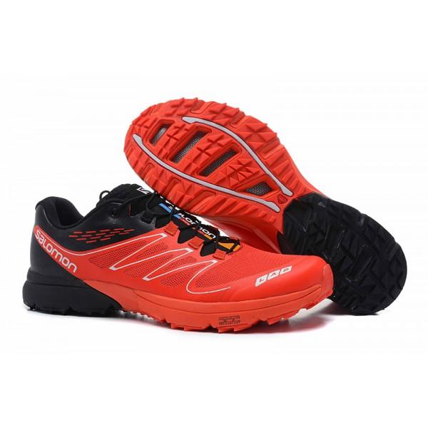 Discount Salomon S LAB Sense Speed Trail Running In Gray Orange Shoes