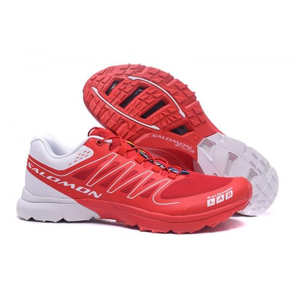 Salomon S LAB Sense Speed Trail Running In Red Black Shoes
