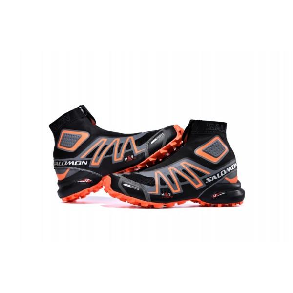 Salomon Snowcross CS Trail Running In Black Gray Shoes