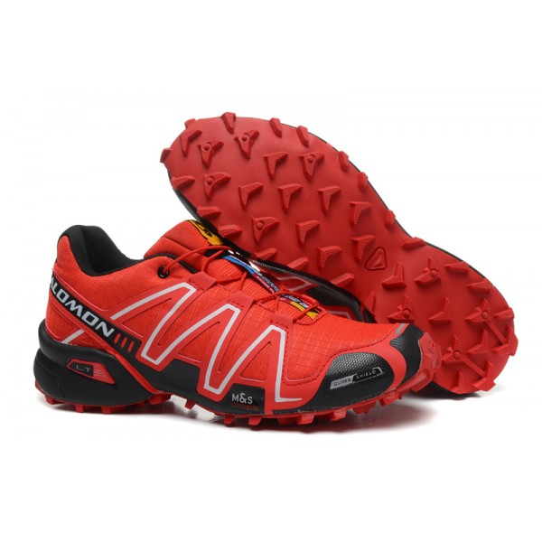 Salomon Speedcross 3 CS Trail Running In Black And Red Shoes