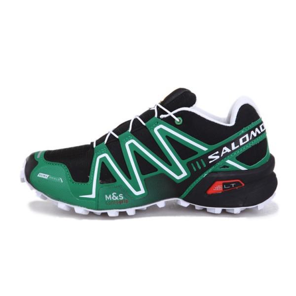Salomon Speedcross 3 CS Trail Running In Black Green Shoes
