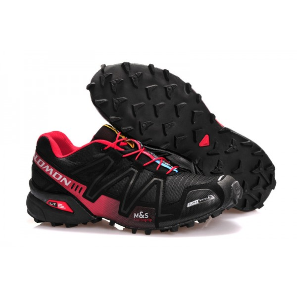 Salomon Men Speedcross 3 CS Trail Running In Black Red Shoes