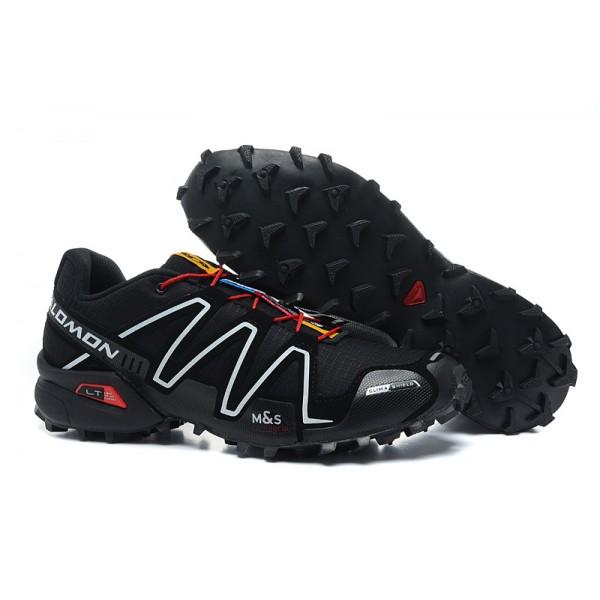 Salomon Speedcross 3 CS Trail Running In Black White Red Shoes