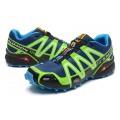 Salomon Speedcross 3 CS Trail Running In Blue Fluorescent Green Shoes
