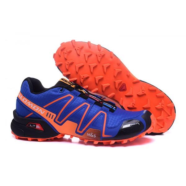 Salomon Speedcross 3 CS Trail Running In Blue Orange Shoes