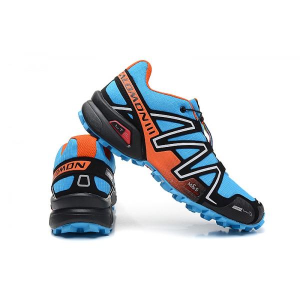 Salomon Speedcross 3 CS Trail Running In Blue Orange Silver Shoes