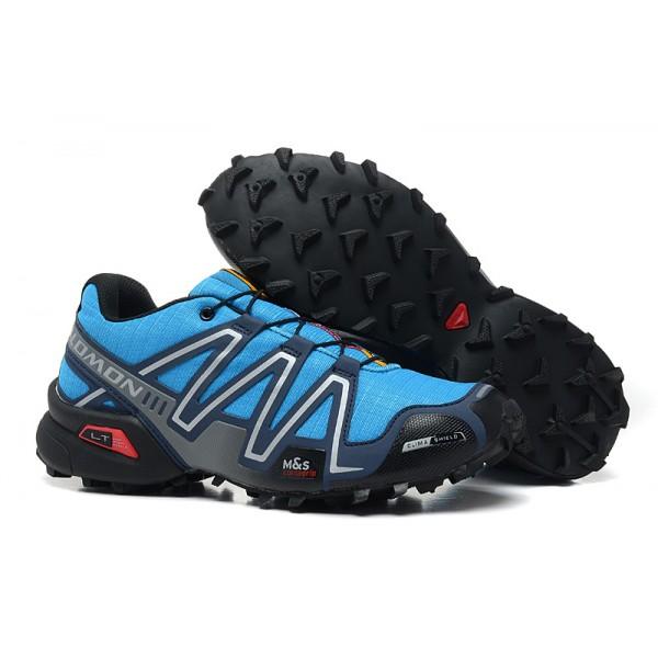 Salomon Speedcross 3 CS Trail Running In Blue Silver Shoes