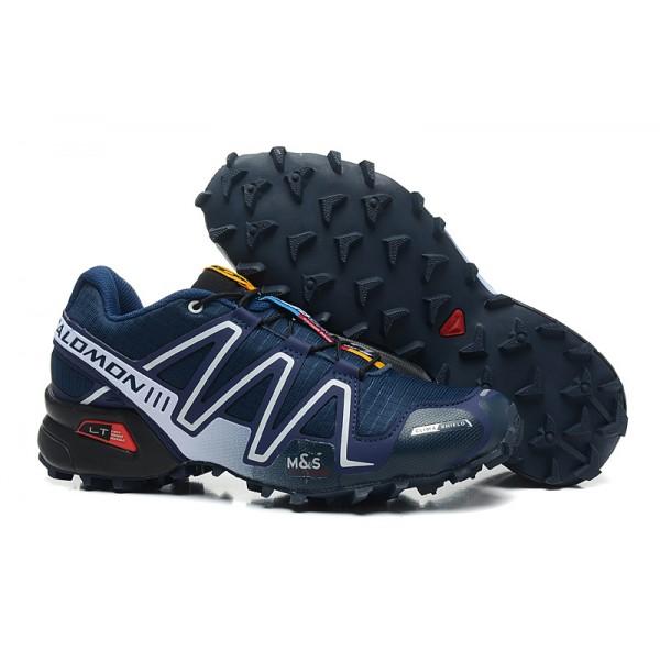 Salomon Speedcross 3 CS Trail Running In Blue White Shoes