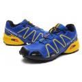 Salomon Speedcross 3 CS Trail Running In Blue Yellow Shoes