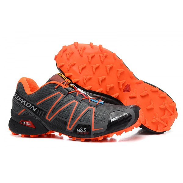 Salomon Speedcross 3 CS Trail Running In Deep Gray Orange Shoes