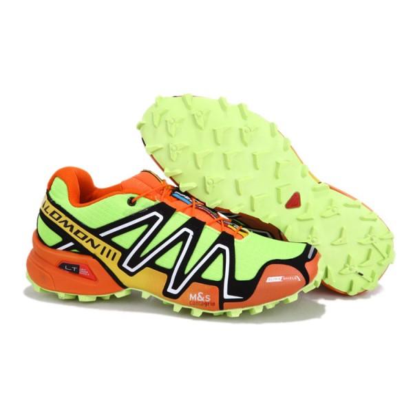 Salomon Speedcross 3 CS Trail Running In Fluorescent Green Orange Shoes