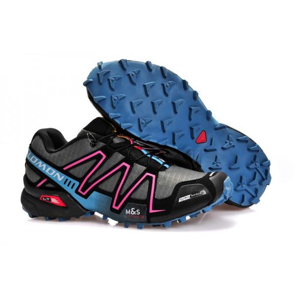 Salomon Speedcross 3 CS Trail Running In Gray Rose Red Shoes