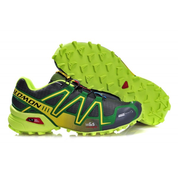 Salomon Speedcross 3 CS Trail Running In Grey Green Shoes