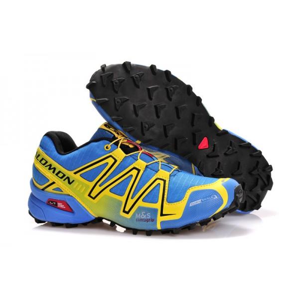 Salomon Speedcross 3 CS Trail Running In Light Blue Yellow Shoes