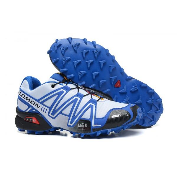 Salomon Speedcross 3 CS Trail Running In White Blue Shoes