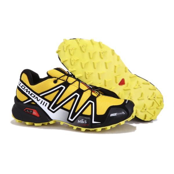 Salomon Speedcross 3 CS Trail Running In Yellow Silver Shoes