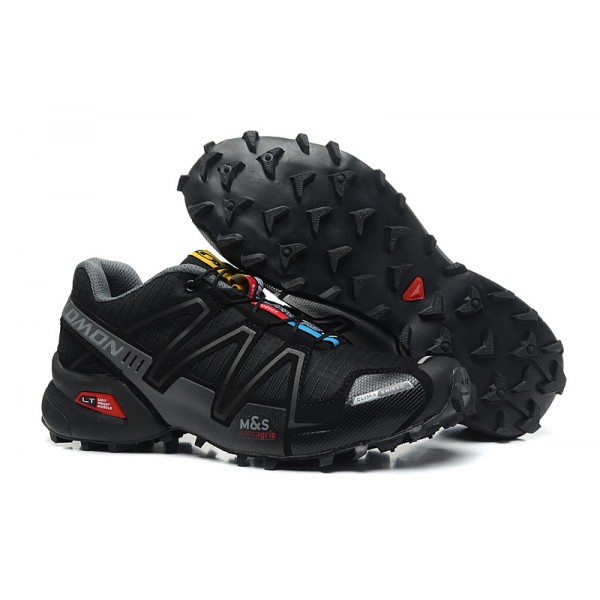 Salomon Speedcross 3 CS Trail Running In Black Gray Shoes
