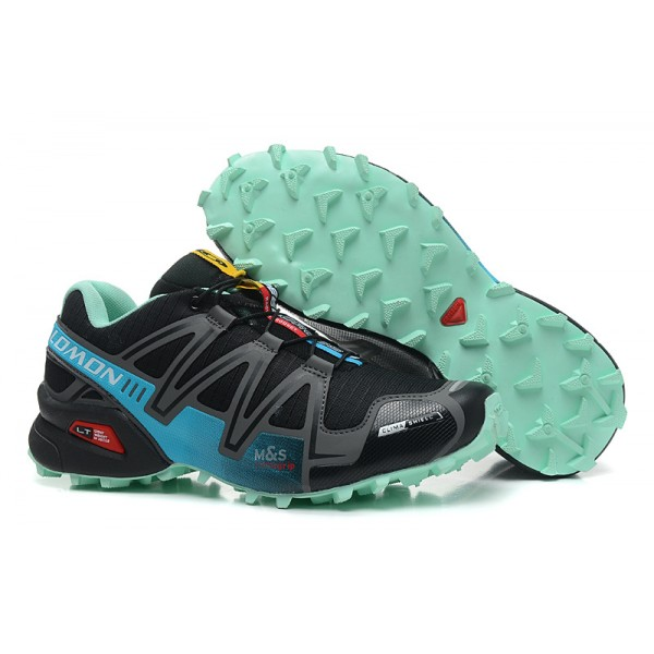 Salomon Speedcross 3 CS Trail Running In Black Lake Blue Shoes