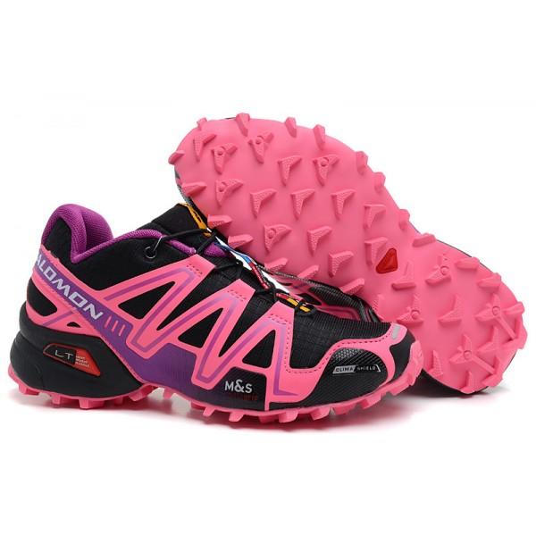 Salomon Speedcross 3 CS Trail Running In Black Pink Shoes