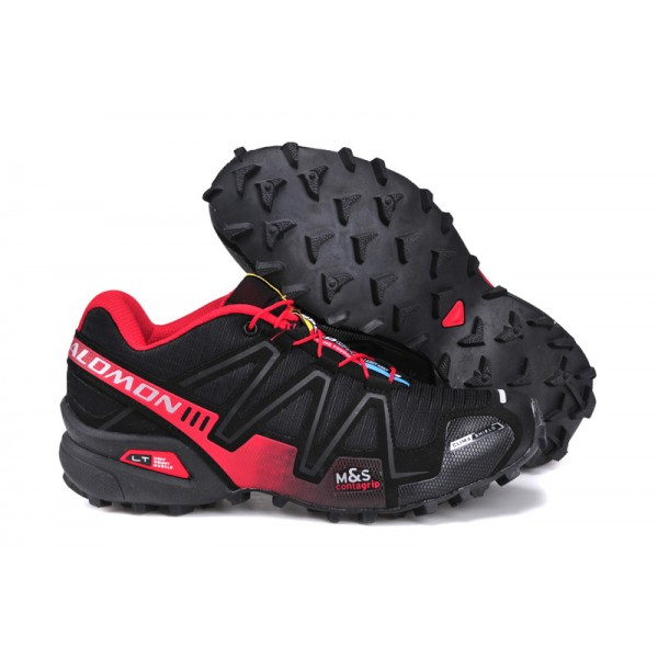 Salomon Speedcross 3 CS Trail Running In Black Red Shoes