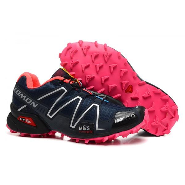 Salomon Speedcross 3 CS Trail Running In Black Rose Red Shoes