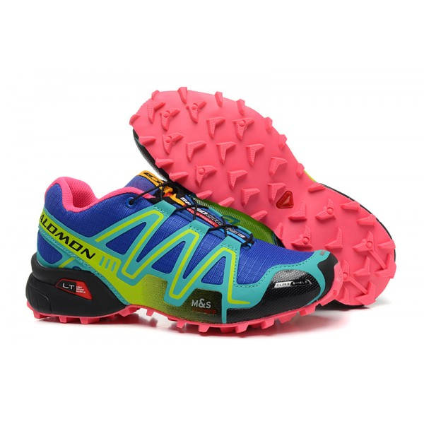 Salomon Speedcross 3 CS Trail Running In Blue Green Shoes