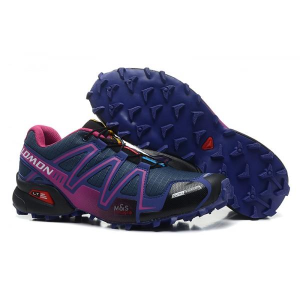 Salomon Speedcross 3 CS Trail Running In Blue Purple Shoes
