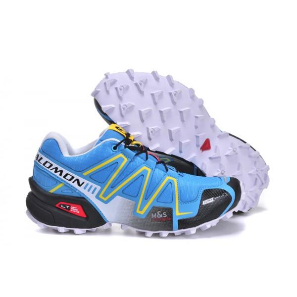 Salomon Speedcross 3 CS Trail Running In Blue Yellow Black Shoes