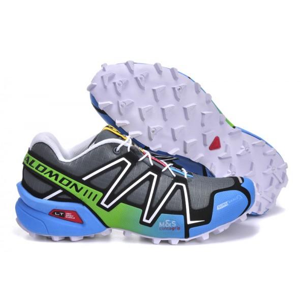 Salomon Speedcross 3 CS Trail Running In Gray Blue Shoes