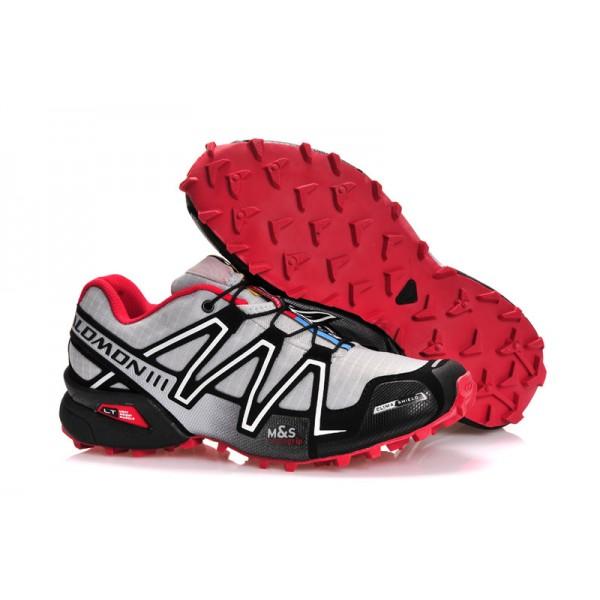 Salomon Speedcross 3 CS Trail Running In Grey Black Red Shoes
