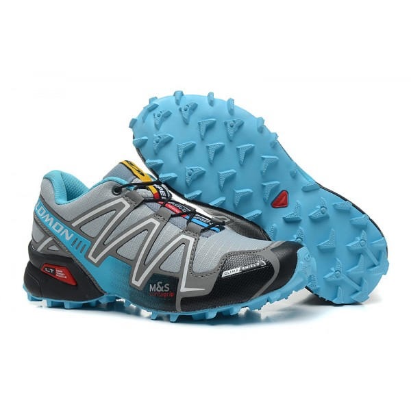 Salomon Speedcross 3 CS Trail Running In Grey Lack Blue Shoes