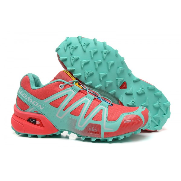 Salomon Speedcross 3 CS Trail Running In Orange Lake Blue Shoes
