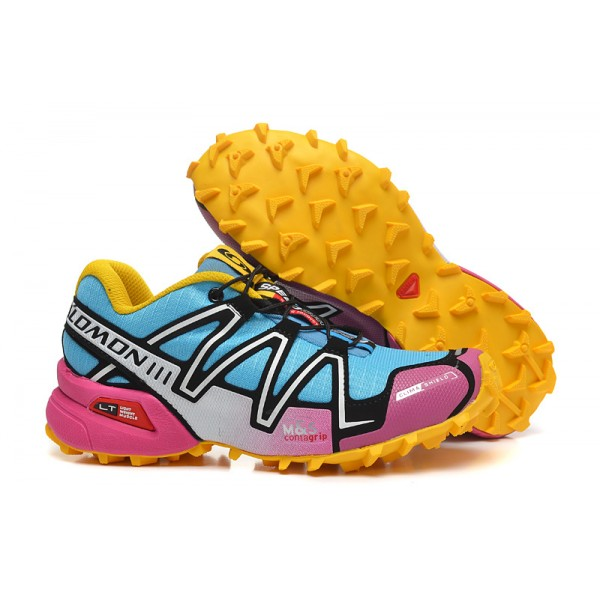 Salomon Speedcross 3 CS Trail Running In Pink Yellow Shoes