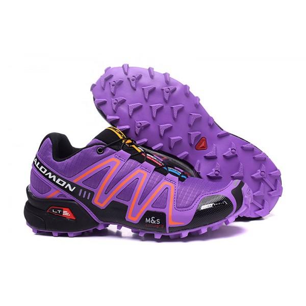 Salomon Speedcross 3 CS Trail Running In Purple Orange Shoes