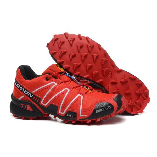 Salomon Speedcross 3 CS Trail Running In Red Black Shoes