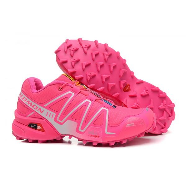 Salomon Speedcross 3 CS Trail Running In Rose Red Silver Shoes