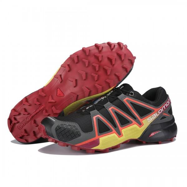 Salomon Speedcross 4 Trail Running In Black Orange Shoes