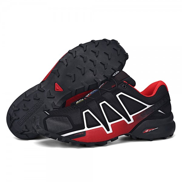 Salomon Speedcross 4 Trail Running In Black Red Shoes