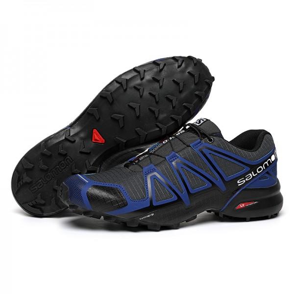 Salomon Speedcross 4 Trail Running In Blue Black Shoes
