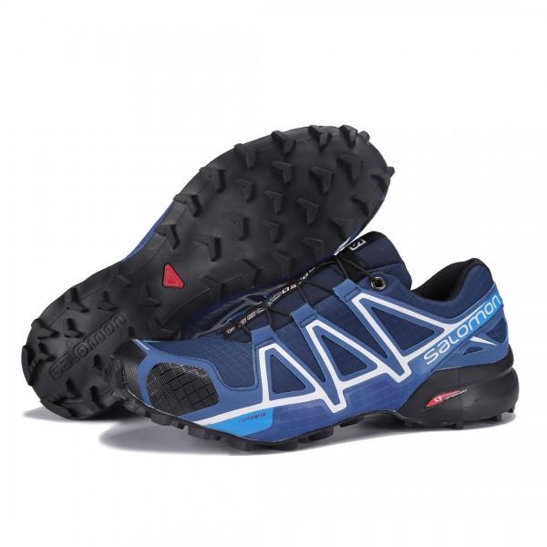Salomon Speedcross 4 Trail Running In Deep Blue Shoes