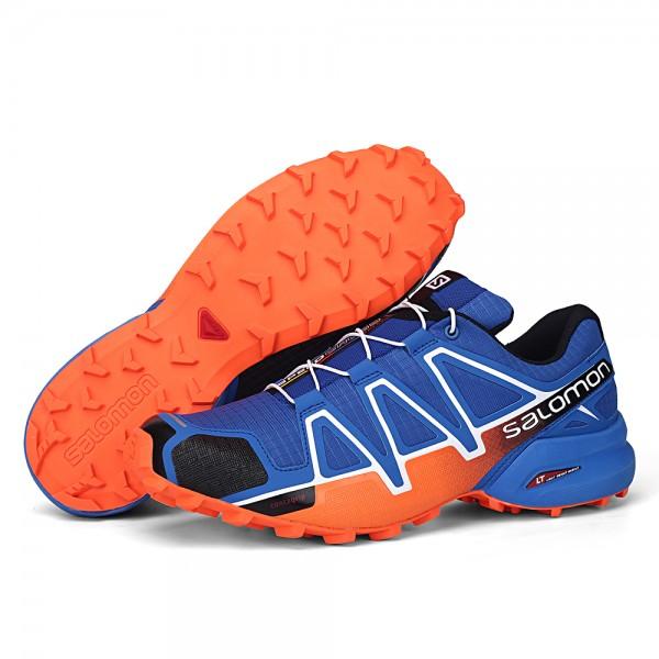 Salomon Speedcross 4 Trail Running In Orange Blue Shoes