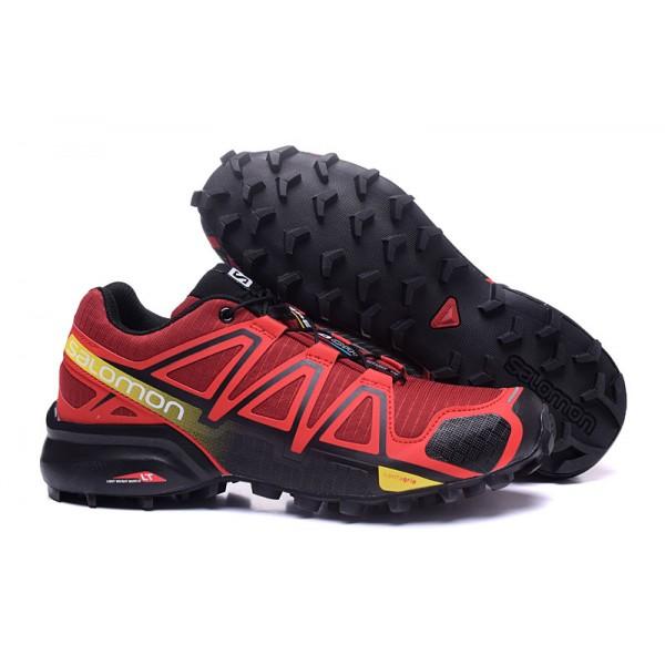 Salomon Speedcross 4 Trail Running In Red Black Shoes