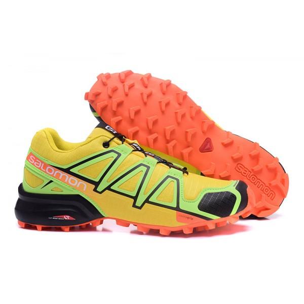Salomon Speedcross 4 Trail Running In Yellow Orange Shoes