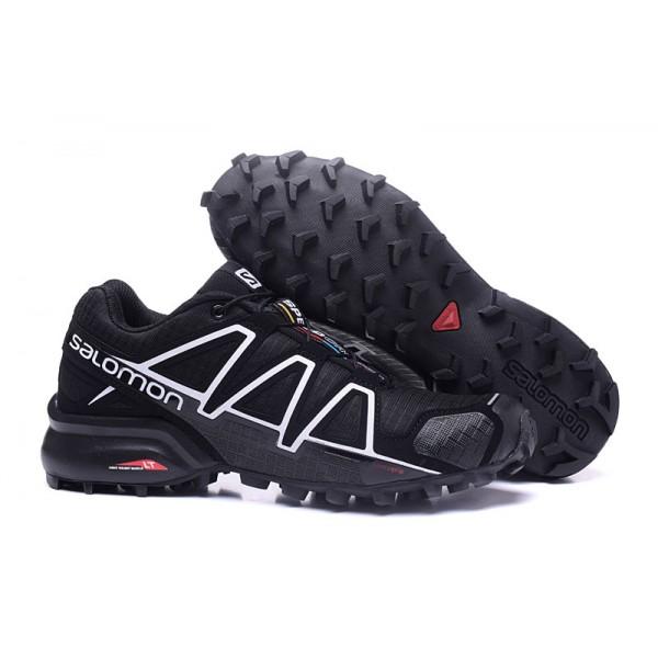 Salomon Speedcross 4 Trail Running In Black White Shoes