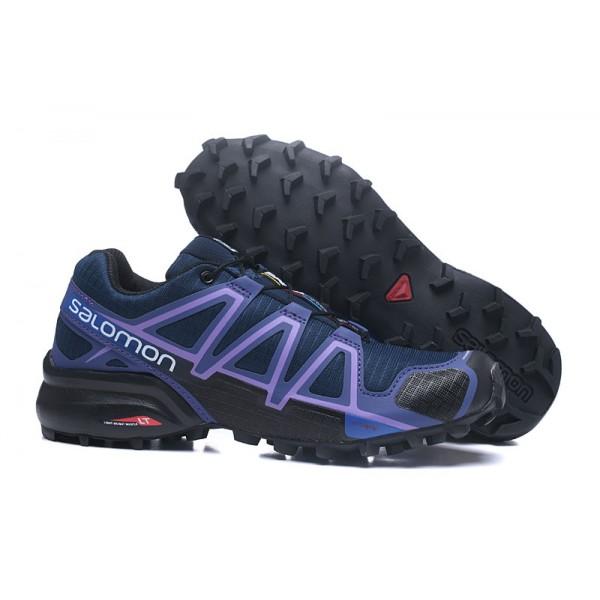 Salomon Speedcross 4 Trail Running In Blue Purple Shoes