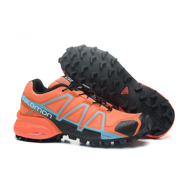 Salomon Speedcross 4 Trail Running In Orange Black Shoes